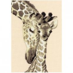 kit a broder point de croix girafes