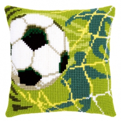 Kit coussin point de croix Football