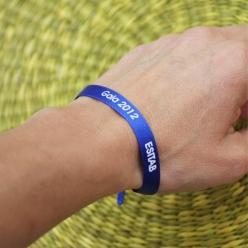 bracelet ceremonies avec message personnalise imprime