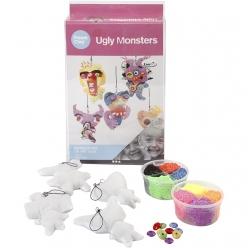 kit ugly monsters tissu et pate a modeler 4 enfants