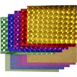 set papier plastique paillete 3d assortiment 10x2 m