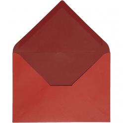enveloppe115x16cm10pcesbicolorerouge