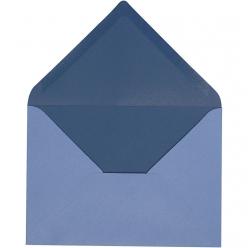 enveloppe115x16cm10pcesbicolorebleu