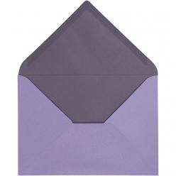 enveloppe115x16cm10pcesbicolorelilas