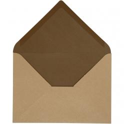 enveloppe115x16cm10pcesbicoloremarron