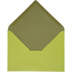 enveloppe115x16cm10pcesbicolorevert