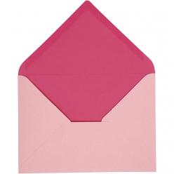 enveloppe115x16cm10pcesbicolorerose