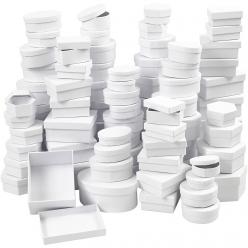 boite en carton blanc 55 16 cm assortiment 168 pieces