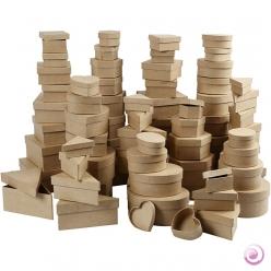 assortiment de boites papier mache 168 pieces