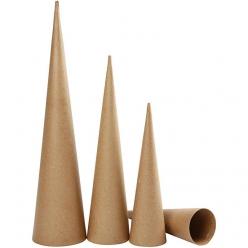 lot de 3 cones hauts 30 50 cm
