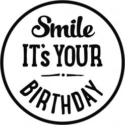 tampon en bois smile it s your birthday
