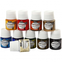 lotpeintureporcelaine150assortiment10x45ml