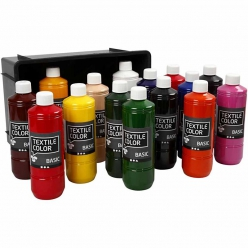 assortimentpeintureclassiquetextilecolor15x500ml