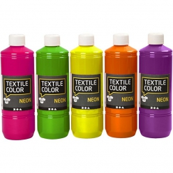 assortimentpeinturefluotextilcolor5x500ml