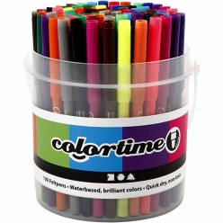 marqueurs colortime assortiment 100 pces