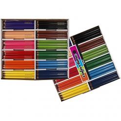 crayons de couleur colortime 144 pieces
