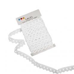 ruban dentelle blanche 19mmx10m