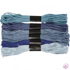 fil a broder  assortiments 6 x8 couleurs
