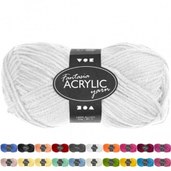 laine acrylique fantasia  pelote de 50gr