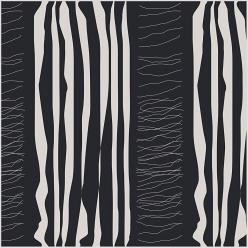 tissu 140cm x1 metre noir a motif blanc
