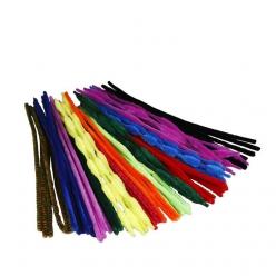 fil chenille 5 12 mm assortiment 500 pieces