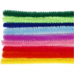 fil chenille epaisseur 9 mm assortiment 25 pieces