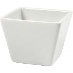 bols carres porcelaine blanche 6x6 cm 12 pieces