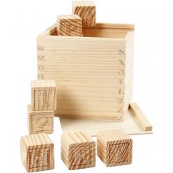 cubes lettres dim 3x3x3 cm 27 assortis