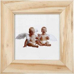 cadre photo en bois 14x14 cm