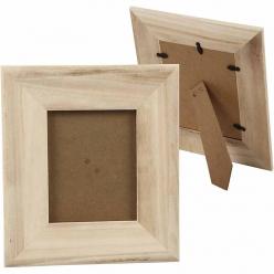 cadre photo avec vitre 25x28 cm