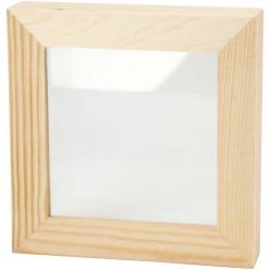 cadre 3d avec vitre 123x123 cm