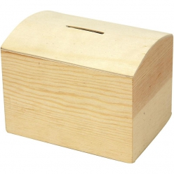 tirelire en bois 10x8x7 cm