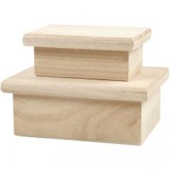 boites rectangulaires assortiment 2 pieces