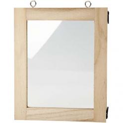 cadre avec vitre 14x17 cm