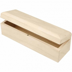 boite en bois fermeture magnetique 20x6x6 cm
