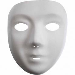 masquevisageplastiqueblanc14x175cm12pices