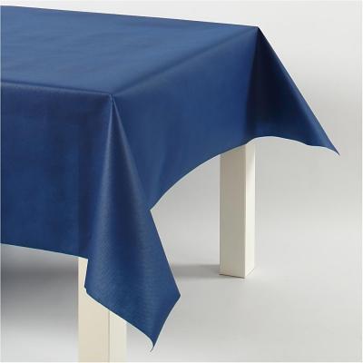Nappe papier imitation tissu bleu fonc 125 cm 10 m - Nappe bleu fonce ...