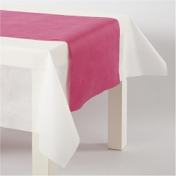 Chemin de table papier rose fuschia 35 cm, 10 m