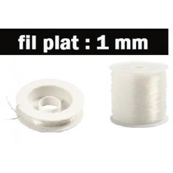 fil elastique plat 1mm2 longeurs disponibles