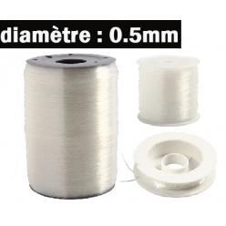 fil elastique 05mm 3 longeurs disponibles
