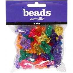 perles a formes coloris translucide 55 gr