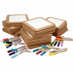 kit sous plats porcelaine a decorer 30 enfants
