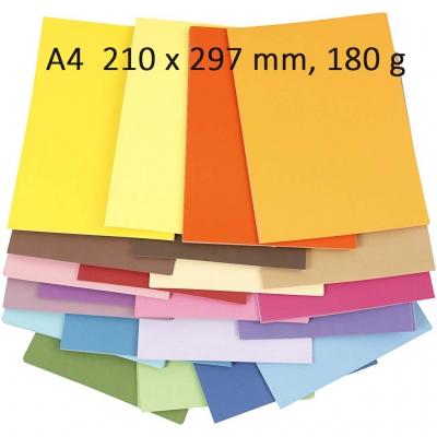 papier couleur a4 210x297 mm 20 feuilles paper concept. Black Bedroom Furniture Sets. Home Design Ideas