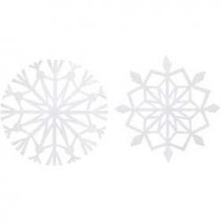 decoupage decoratif cristal de glace 16pc
