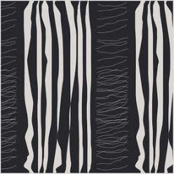 tissu 145 cm x10 m noir a motif blanc
