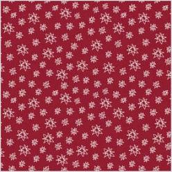 tissu 140cm x1 metre rouge a motif