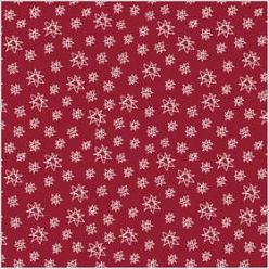 tissu 140 cm x10 m rouge a motif