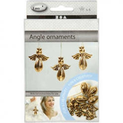 kit ornements anges 4 pieces or