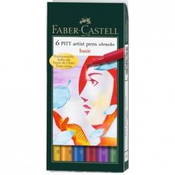 pochette 6 feutres pitt brush couleurs de base