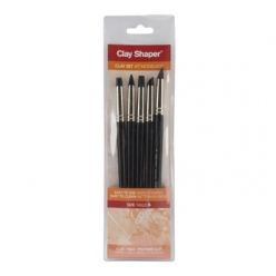 Clay shaper n°6 Extra-ferme -  5 pointes assorties